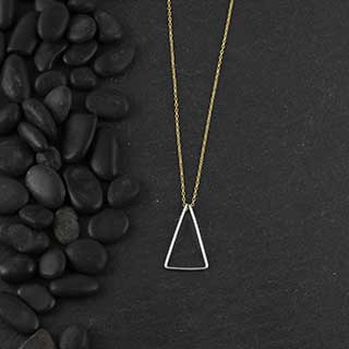 Wire Triangle Necklace (n-wit0)