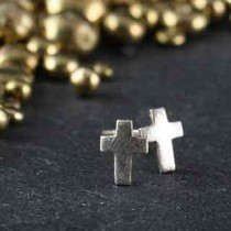Tiny Cross Post Earring