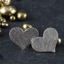 Small Flat Heart Post Earring