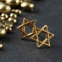 Tiny Star Of David Post Earring